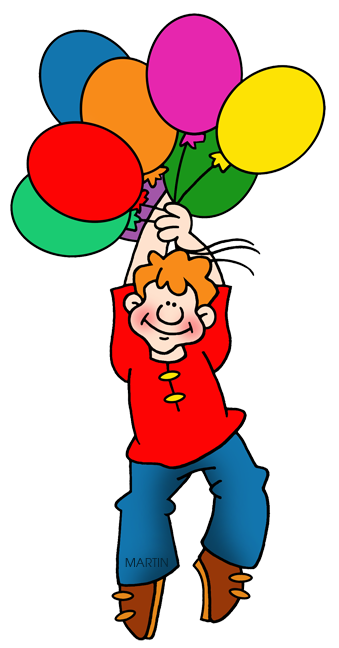 Balloons Lifting Boy