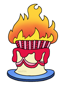 Birthday Cake in Flames
